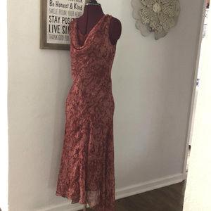 NWOT ICE Beaded Silk Bias Cut 30s Style Dress Sz 4